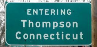 Entering Thompson sign